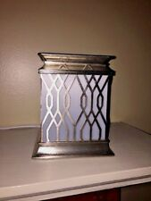 Electric Tart Burner PIER 1 Glow Thru Gothic Cathedral fits Yankee Candle 6Tx5w