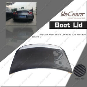 CARBON Rear Trunk Boot Lid Kit For 08-16 Nissan R35 GTR CBA DBA RZ Style