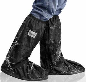 Waterproof Rain Shoe Covers Reusable Slip-Resistant Overshoes with Reflector