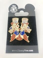 Disney Official Trading Pin Chip & Dale Patriotic American Flag