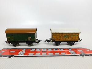 CR455-0,5# 2x Märklin H0/00/AC Güterwagen breite VE: 382 Jamaica + 389 Viehwagen