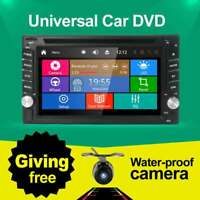 "Double 2 DIN  6.2"" Car DVD GPS Navigation Head Unit Stereo BLUETOOTH Handfree SD"