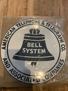 BELL System PUBLIC TELEPHONE Metal Sign 12x12