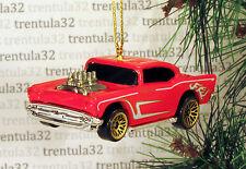 '57 CHEVY 1957 CHEVROLET RED GOLD CHRISTMAS TREE ORNAMENT XMAS