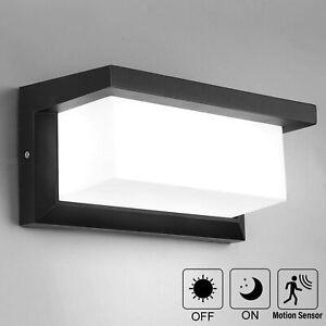 LED Außenleuchte mit Bewegungsmelder Wandleuchte Anthrazit Sensor Außenlampe18W