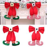 Eg _ LX _ Fiocco Elfi Scarponi Albero di Natale Festa Casa Negozio Decorazioni a