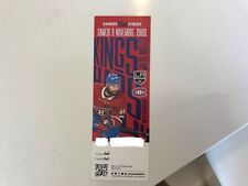Unused Montreal Canadians tickets featuring Nate Thompson nov 9