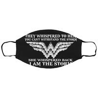 Rbg Wonder Woman – She Whispered Back Christmas Face Mask Washable Reusable 3D
