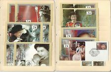 Great Britain Stamp Collection, 1992, #1136-40 Fdc's, 4 Pages, Queen Elizabeth