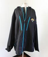 Jacksonville Jaguars Fleece Lined Windbreaker Jacket Size 2XL XXL NFL Reebok