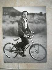 Johnny Depp B&W 11x14 Magazine Page Photo Bicycle Bike