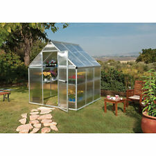 New Palram Greenhouse 6x6 Garden Green Houses Glass Plant Growing Vegetables