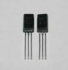 2SD667 2SB647 TRANSISTOR LOW FREQUENCY Amplificateur de puissance TO-92MOD (1 paire) NEUF