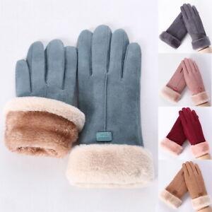 Damen Handschuhe Thermo Touchscreen Fingerhandschuhe Winter Handschuhe Fahrrad