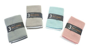 Pack of 3 Face Cloth Soft Microfibre Flannel Wash Cloths Baby Travel Sports Gym