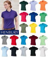 Henbury - Ladies Coolplus Wicking Pique Polo Shirt - SIZES XS-3XL