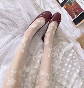 Lolita Girls Floral Pattern Summer Pantyhose Stockings Women Thin Tights