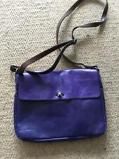 White stuff purple leather bag