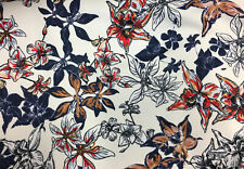 Floral Printed Scuba Dress Fabric 150cm Wide