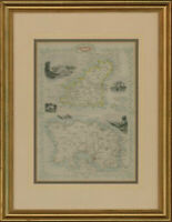 John Rapkin (1815-1876) - Framed 1890 Map, The Channel Islands