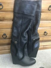 roberto cavalli Black Fur Lined Wedge Boots, Brand New Size 3 (36)