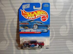 """1999 Hot Wheels """"Surf `N Diversión'' #963 = `55 Chevy = Burdeos 3sp"""