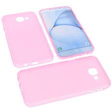 funda para Samsung Galaxy A8 (2016) protectora de móvil TPU goma Carcasa Rosa