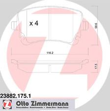 Bremsbelagsatz Scheibenbremse - Zimmermann 23882.175.1