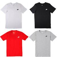 Nike Club Swoosh T Shirt Mens Athletic Cut Cotton Short Sleeved Gym Sports Top