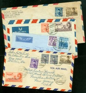 EDW1949SELL : EGYPT 4 Paquebot covers.