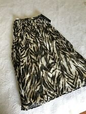 Talbots Woman Womens Plus Petite sz 18WP ALine Skirt Animal Print Crinkle A Line