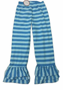 NWT Southern Tots Stripe Triple Ruffle Hem Knit Pants Blue Size 12 Years