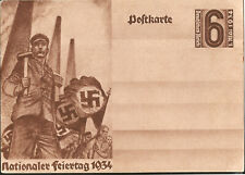 1934 May Day Workers Carry Swastika Banners Hitler Support Nazi Germany Postcar