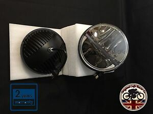 """7"""" Inch Land Rover Defender LED Cree Headlight x2 E Approved 90 110 4x4 730"""