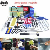 108x PDR Herramientas Abolladuras Sacabollos Diapositiva Martillo Reparación Kit