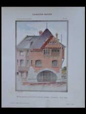 ONIVAL, AULT, 9 RUE DE LA PLAINE - 1909 - GRANDE PLANCHE COULEUR - LEPINE