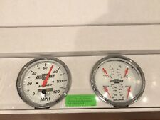 "Auto Meter 5"" Quad Gauge & Speedometer Kit Chevrolet Arctic White Street Rod Kit"