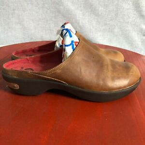Crocs Cobbler 2.0 Womens Size 10.5 Shoes Brown Leather Slip On Comfort Mule Clog