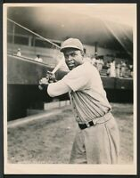1950's Vintage Photo JACKIE ROBINSON Brooklyn Dodgers with Bat