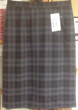 Calf Length Straight, Pencil Check Regular Skirts for Women