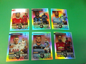 LOT OF (6) 2020/21 TOPPS MERLIN UEFA SOCCER WIZARDS OF THE PITCH INSERT CARDS