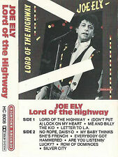 JOE ELY LORD OF THE HIGHWAY CASSETTE ALBUM Blues Rock, Country Rock