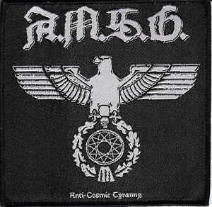 A.M.S.G Ad Majorem Satanae Gloriam Anti Cosmic Tyranny patch Black metal Bathory