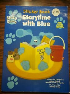 Vintage Blues Clues 1998 Sticker Book Story Time With Blue Unused RARE