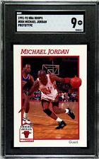 1991-92 NBA Hoops Michael Jordan 004 PROTOTYPE SGC 9 Mint RARE