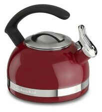 KitchenAid 2-Quart Steel Band Tea Kettle Whistle /C Handle kten20cber Empire Red
