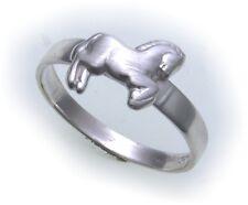 Kinder Ring Pferd echt Silber 925 Sterlingsilber massiv poliert Qualität