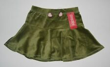 NWT Sz 6 Gymboree Gingerbread Girl Green Velour Skort Skirt Holiday Hearts