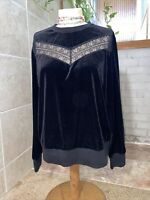 Cute Ralph Lauren Black Velvet Sweater Size M
