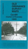OLD ORDNANCE SURVEY MAP CARDIFF CANTON RIVERSIDE 1940 VICTORIA PARK VIRGIL ST